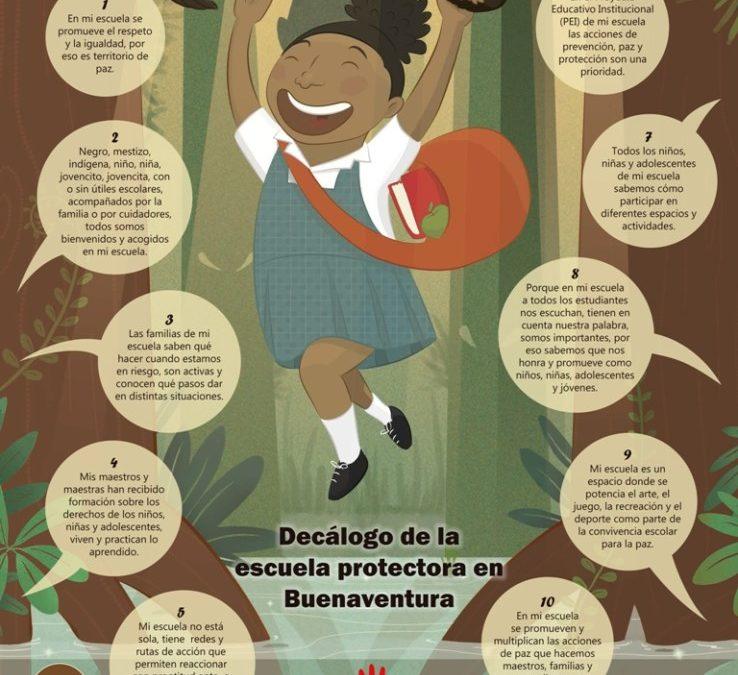 Decálogo de la escuela protectora y protegida en Buenaventura (2015 – 2016)
