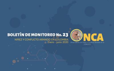 Boletín de monitoreo N°. 23: Niñez y conflicto armado en Colombia
